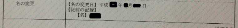 名の変更記録